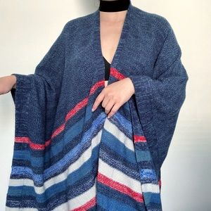 BCBGMAXAZRIA Shawl Sweater Poncho Cape